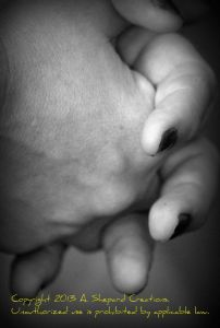 A Mother's Hands with Watermark
